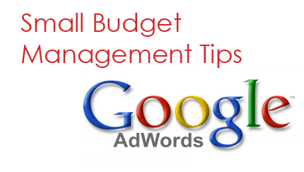 small budget management in Google adwords