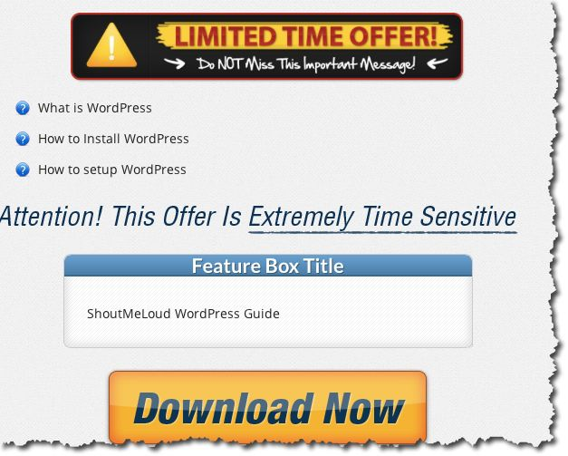 Create WOrdPress Squeeze pages
