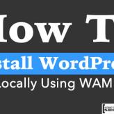 How To Install WordPress Locally Using WAMP