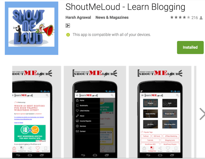 Android app Bloggers