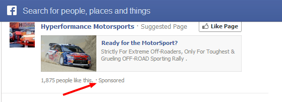 Facebook-Sponsored-Page-Like