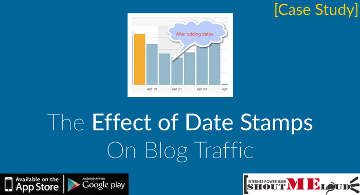 Effect of Showing Dates on Search Engine Ranking [Case Study]