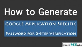 How to Generate Google Application Specific Password for 2-Step Verification