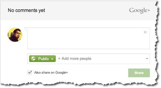 Google+ comment