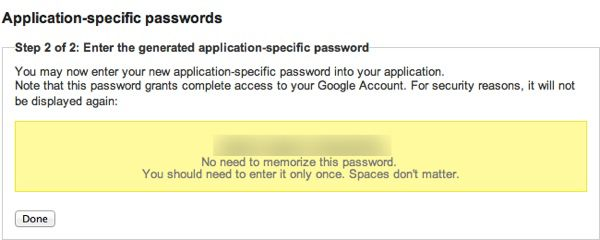 Google Application specific passwords How to Generate Google App Specific Password for 2 Step Verification