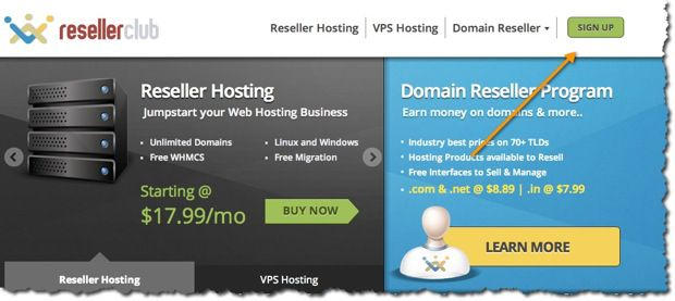 Sign up for Reseller account How to Start your Domain And Webhosting Company