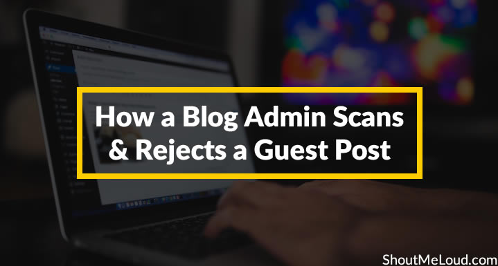 How to Scan and Reject a Blog post