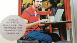 """ShoutMeLoud in """"The Week"""" National Magazine & My First Presentation on Blogging"""
