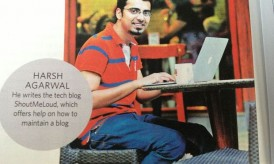 """ShoutMeLoud in National Magazine """"The Week"""" & My First Presentation on Blogging"""