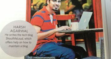 "ShoutMeLoud in National Magazine ""The Week"" & My First Presentation on Blogging"