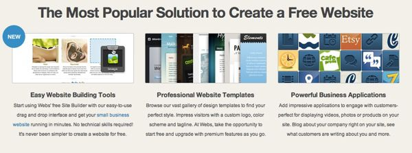 Webs website builder Website Builders With Free Hosting Service in 2014
