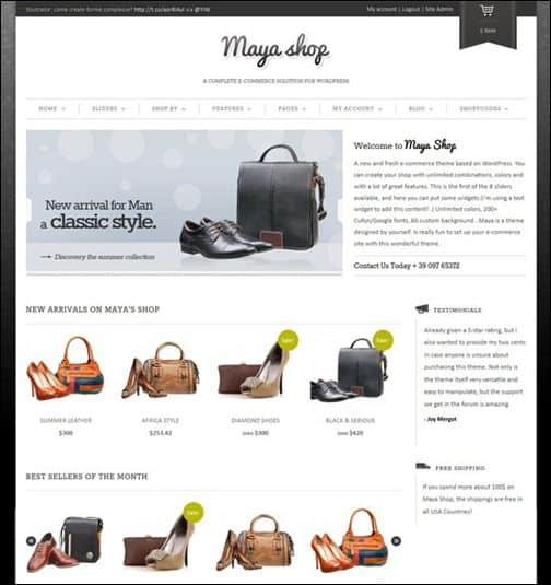 maya shop WP E Commerce   Start Your Own eCommerce Business with WordPress