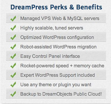 DreamPress WordPress hosting