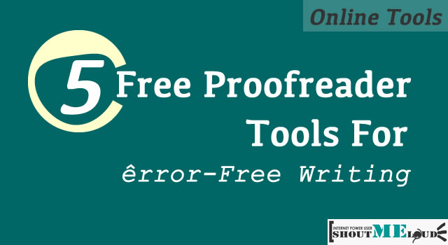 Online proofreading tool medical