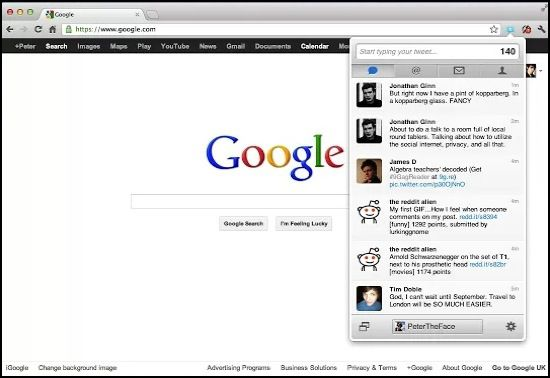 Twitter Chrome Notifier