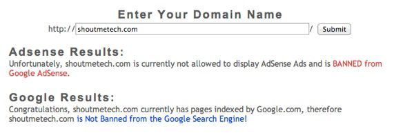 AdSense Banned Checker