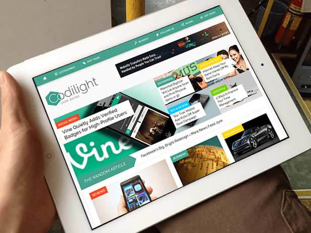 Codilight Ipad Codilight: Beautiful responsive magazine/blog theme [Review]