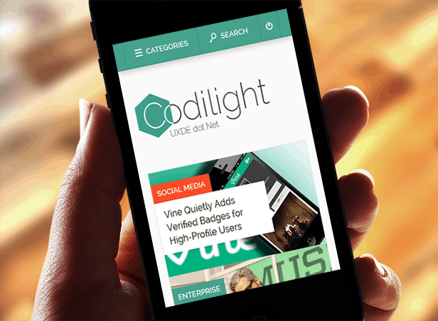 Codilight Iphone Codilight: Beautiful responsive magazine/blog theme [Review]