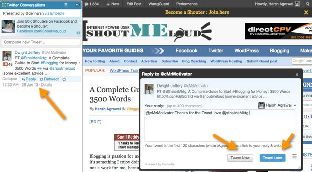 Embedle Twitter tool Embedle : Find What People are Tweeting about Any WebPage