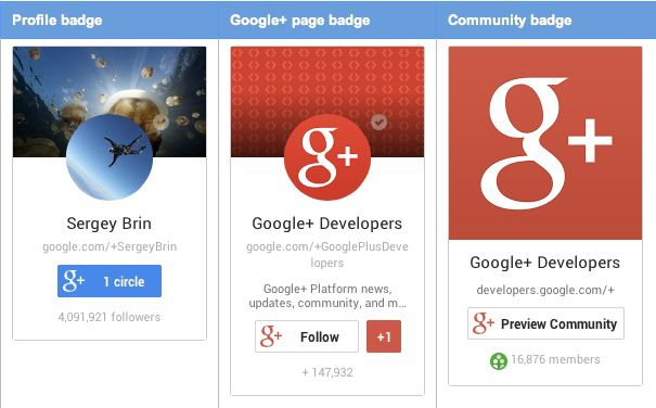 Google plus follow widget How to Create Google Plus Profile Follow Badge