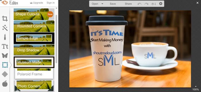 Picmonkey online photo editor