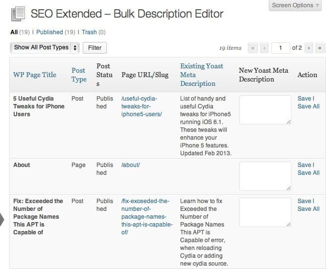 SEO Extended WordPress plugin
