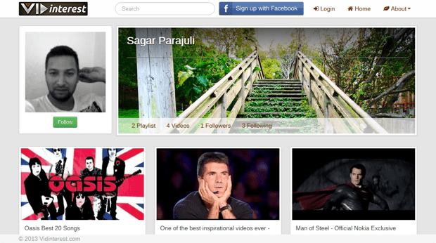 Sagarvids vidinterest Vidinterest, a Social video aggregator – the next big thing on the web