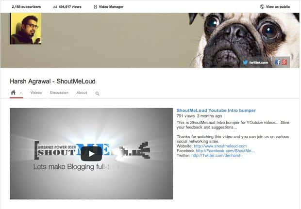 Youtube page How to Add YouTube Subscribe Button on your Blog