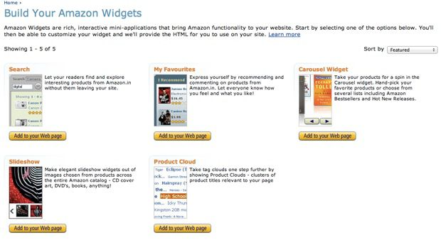 amazon India Widgets Monetize Indian Traffic With Amazon India Affiliate Program