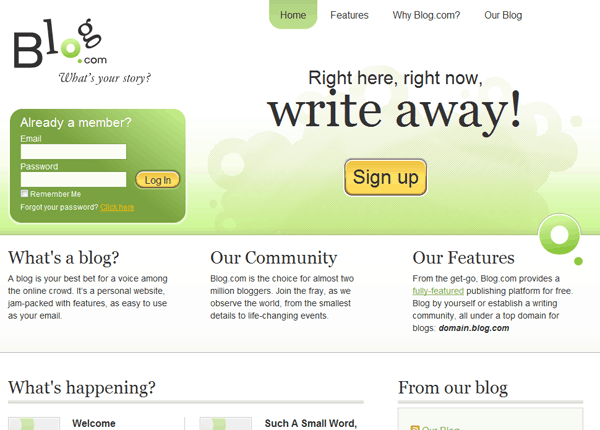 blogcom Best 8 Websites to Create a Blog for Free