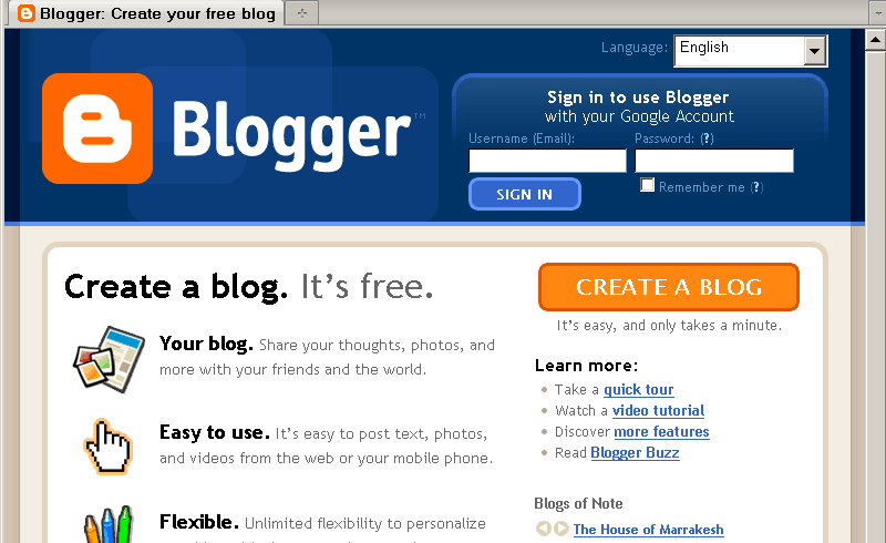 blogger login Best 8 Websites to Create a Blog for Free