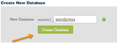 create database bluehost