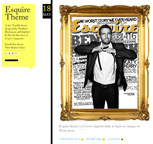 esquire Free Tumblr themes: 10 of the Best Elegant themes