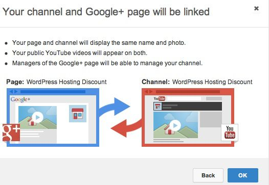linking Google plus and youtube