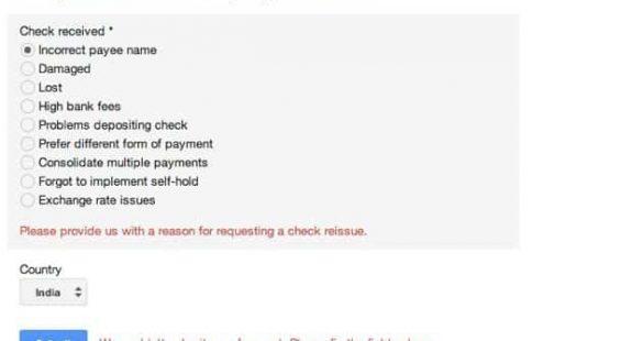 reason for AdSense check reissue
