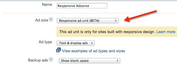 responsive adsense ad unit