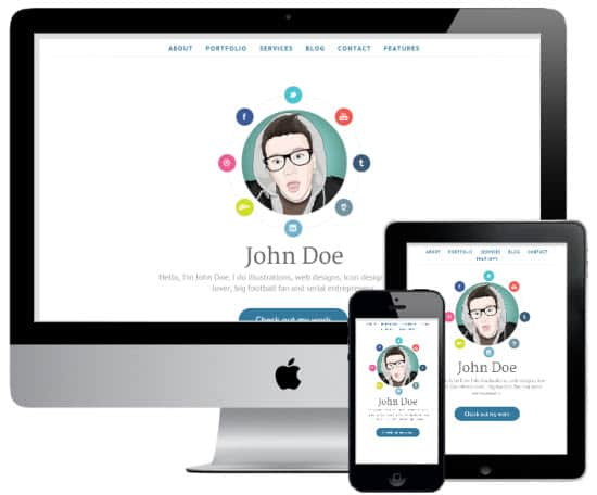 AWSM 8 Awesome vCard Wordpress Templates to Flaunt Your Online Profile