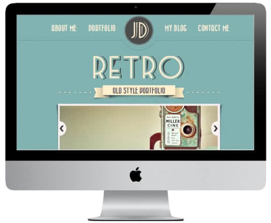 Retro Portfolio 8 Awesome vCard Wordpress Templates to Flaunt Your Online Profile