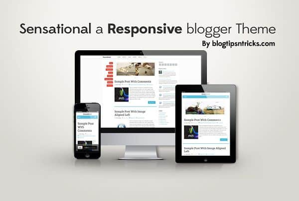 Sensational Responsive blogger template 1 10 Premium Looking Free Blogger Templates Of 2014