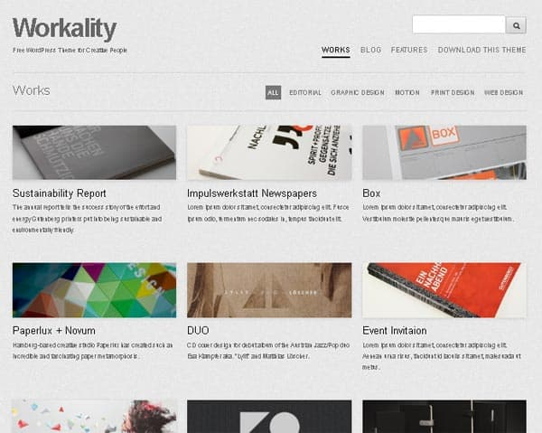 Workality wordpress theme 10 Portfolio WordPress Themes for Photographers