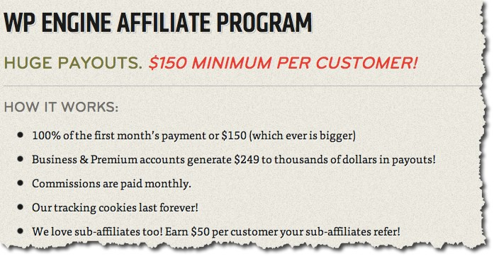 WpEngine Affiliate program WP Engine Affiliate Program: Overview and Details