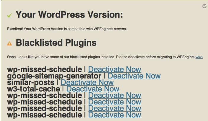 WpEngine plugin compatibility checker