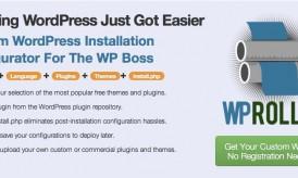 WP Roller: Create Custom WordPress Installation with Plugins & Themes