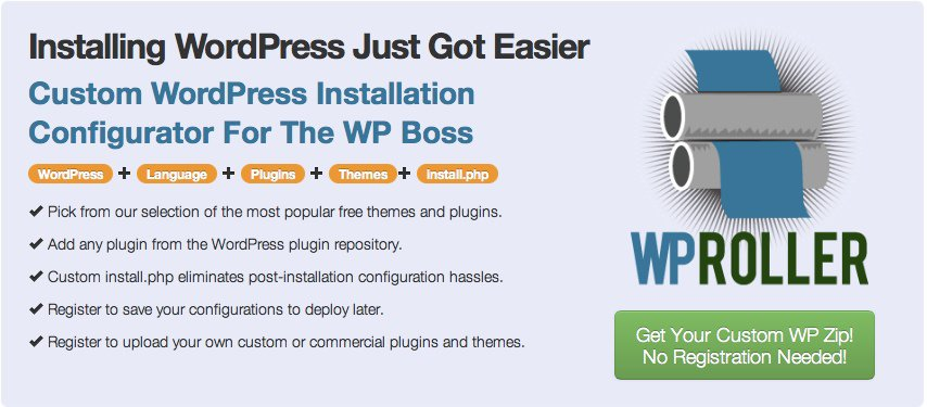 WpRoller WordPress Custom installation WP Roller: Create Custom WordPress Installation with Plugins & Themes
