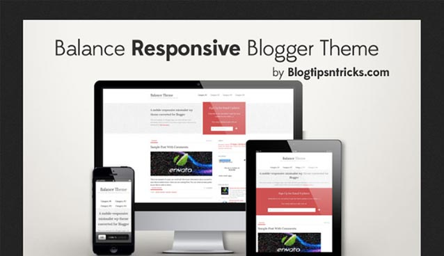 balance theme 10 Premium Looking Free Blogger Templates Of 2014
