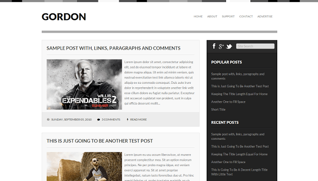 gordon template 10 Premium Looking Free Blogger Templates Of 2014