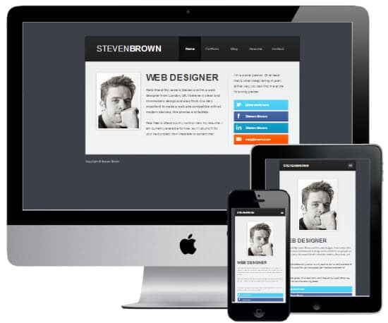 summit 8 Awesome vCard Wordpress Templates to Flaunt Your Online Profile