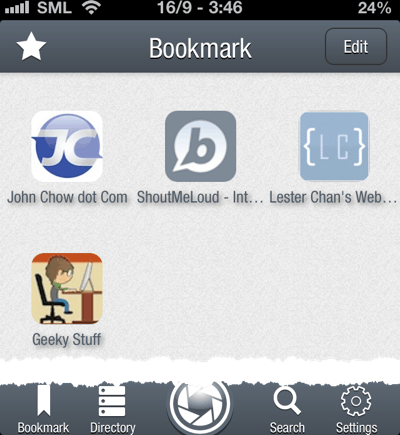 Bloapp bookmarks 5 Minute Tutorial to Create Free Blog iPhone App Using BloApp