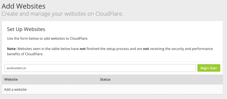 Configure Cloudflare