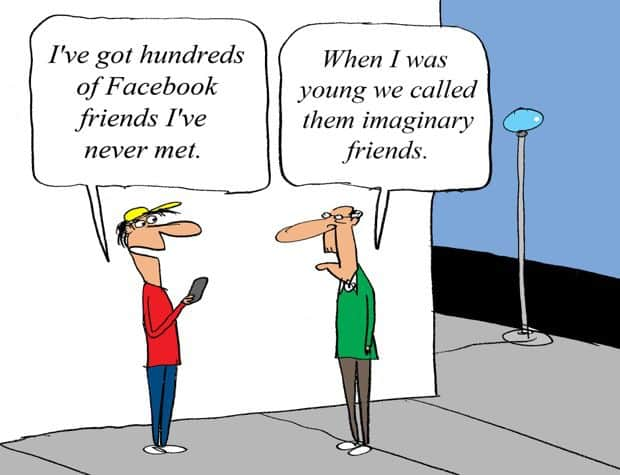 Facebook imaginary friends comic